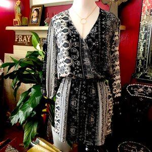Iris Romper Short in Paisley Design